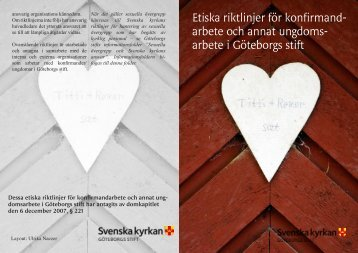 Etiska riktlinjer - Svenska kyrkan i Foss-Sörbygden