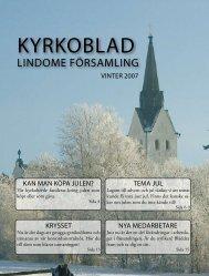 Kyrkoblad Vinter 2007, tema jul - Lindome församling