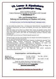 Info- und Einsteiger-Kurs Haltung und Ausbildung von Alpakas und ...