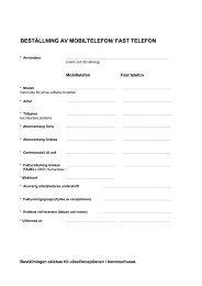 Beställning mobil/fast telefon