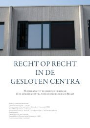 Recht op recht in de gesloten centra - Vluchtelingenwerk Vlaanderen