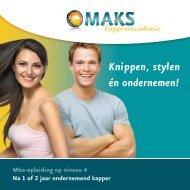 Download brochure MAKS Kappersacademie