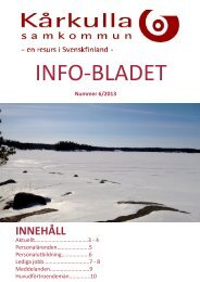 Info-bladet nummer 6/2013 - Kårkulla samkommun