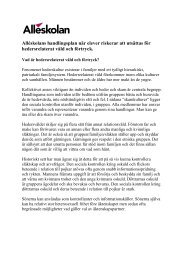 Handlingsplan för insatser mot hedersrelaterat våld och förtryck