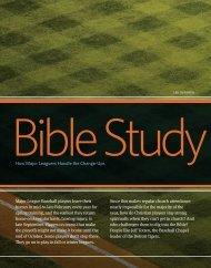 How Major Leaguers Handle the Change-Ups - Bible Study Magazine
