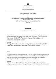 Bibliografische conventies - HumOZ