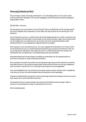 Overzicht planmatig onderhoud 2012 - Viverion