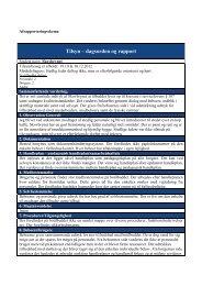 Anmeldt tilsyn d. 19. oktober og d. 12. december 2012