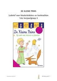 DE KLEINE PRINS Lesbrief voor kleuterleidsters en ... - Lannoo