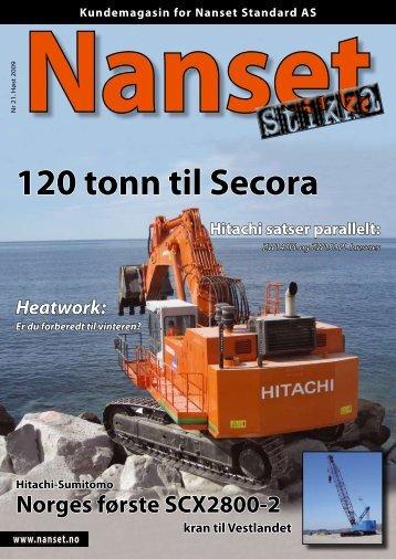 120 tonn til Secora - Nasta AS