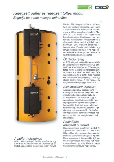 Rétegzett puffer Friss víz modul Rétegzett töltés ... - Liget Gatter Kft