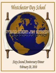 the 2010 Virtual Journal - Westchester Day School