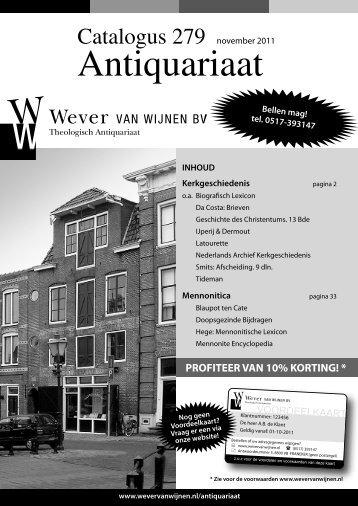 Antiquariaat - Wever van Wijnen