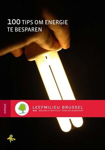 100 Tips om energie te besparen - IBGE