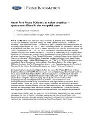 Neuer Ford Focus Econetic ab sofort bestellbar - Auto-Stephan KG