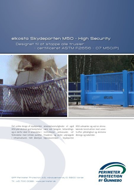 elkosta Skydeporten M50 – High Security - Perimeter Protection Group