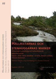 HäLLRISTARNAS OCH STENHUGGARNAS MARKER