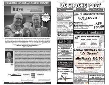 De Groene Post, editie 28 november 2012 - Boekhandel en ...