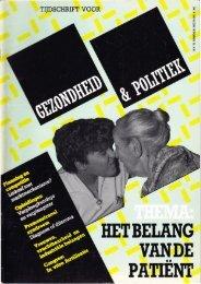 Tijdschrift Gezondheid en Politiek jaargang 1985 nr 4