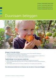 Brochure duurzaam beleggen(Pdf 274.3 KB) - Triodos