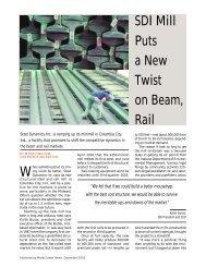 SDI Mill Puts a New Twist on Beam, Rail - Steel Dynamics, Structural ...