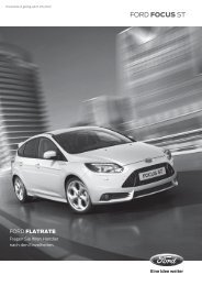 Ford Focus ST Preisliste - Auto-Stephan KG