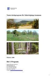Naturvårdsprogram del 1.pdf - Söderköpings kommun