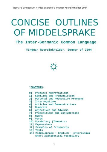 Concise outlines of Middelsprake.pdf - Folkspraak