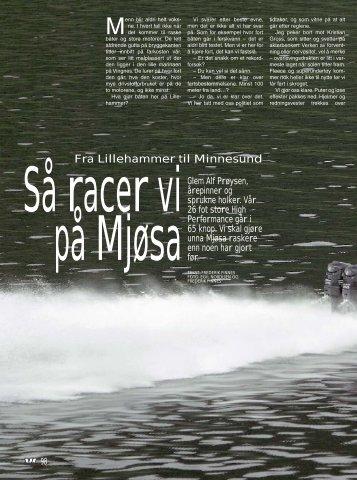 Vi Menn Båt 28/04 - Så raser vi på Mjøsa.