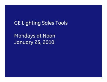 GE Lighting Sales Tools - Hawaii Energy, Conservation and ...