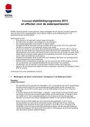 Concept stabiliteitsprogramma 2013 en effecten voor de ... - Hiswa