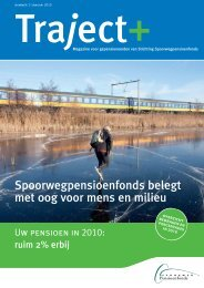 Traject plus januari 2010:Opmaak 1 - Spoorwegpensioenfonds