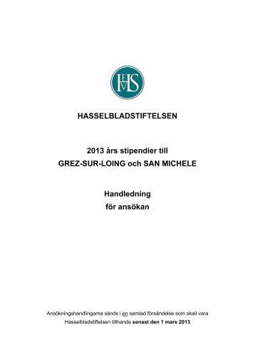 Prospekt Grez,SM 2013 - Hasselblad Foundation