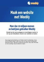 Maak een website met Weebly - Nederland Verdient Online