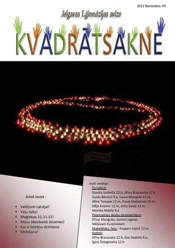 2011.g. novembris Nr.3 - Jelgavas 1. ģimnāzija
