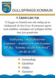 Värdegrundskort - Gullspångs kommun
