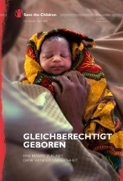 GleichberechtiGt Geboren - Save the Children