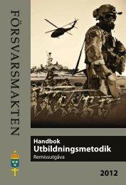 Handbok utbildningsmetodik - Försvarsmakten Blogg