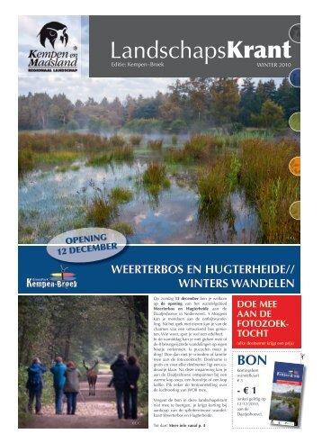 LandschapsKrant - Regionaal Landschap Kempen en Maasland vzw