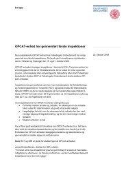 OPCAT-enhed har gennemført første inspektioner - Folketingets ...