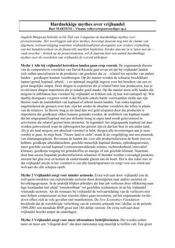 Mythes over vrijhandel - Martens, Bart