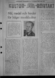 1945-02-22 Karl Sporr ondgör sig över musikokultur
