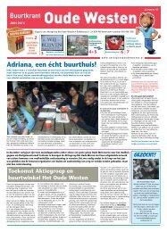 Buurtkrant Oude Westen, 43(juni 2013), Aktiegroep Het Oude ...