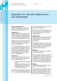 Operation for tryk på midternerven ved håndleddet - EPIS - Gentofte ...