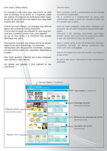 Cher client, chère cliente, Ce catalogue a été conçu pour vous ...