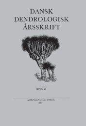 Volume 11 (1993) - Dansk Dendrologisk Forening
