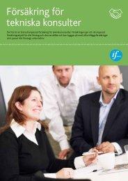 Försäkring för tekniska konsulter - If