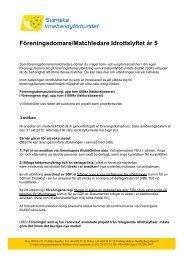 Föreningsdomare/Matchledare Idrottslyftet år 5 - Innebandy.se