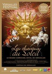 Programme de salle - Château de Versailles Spectacles