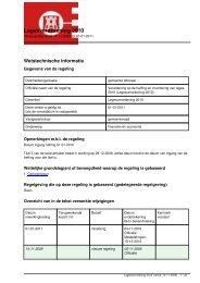 Legesverordening 2010 - Regelingenbank gemeente Alkmaar